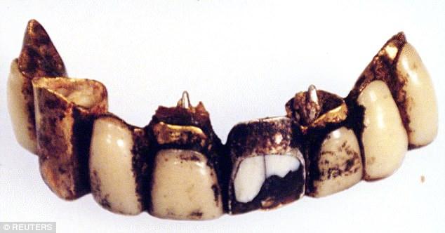 adolf teeth close up